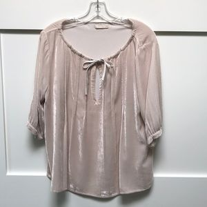 CP Shades velvety peasant top